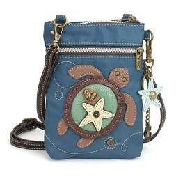 Chala Handbag Turtle Cell Phone Crossbody Bag with Zipper -