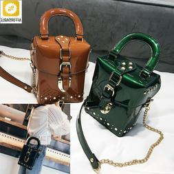 Handbags Crossbody MIni Box Bag Messenger Cube Bags Design F