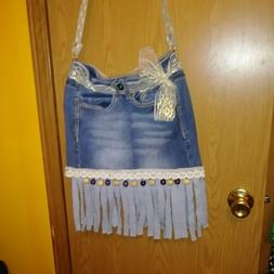 Hippie Crossbody Bag Thai Top Zip Hobo Sling Bag Handmade Hi