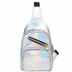 Goodbag Boutique Holographic Laser Sling Bag Crossbody Backp