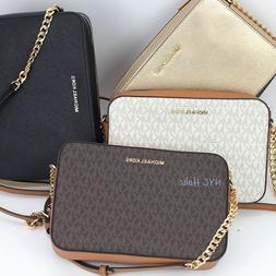New Michael Kors Jet Set East West Chain Crossbody Saffiano