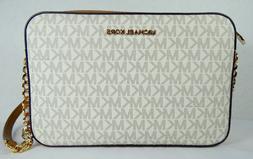 Michael Kors Jet Set EW Vanilla Acorn PVC Signature Large Cr