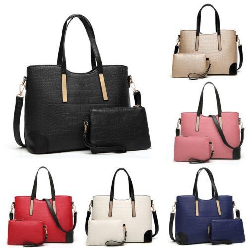 2pcs women s pu leather satchel purses