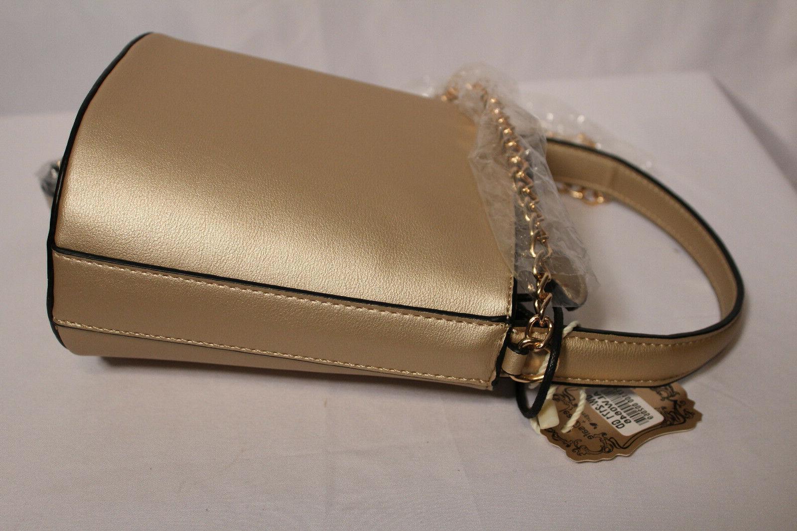 Alyssa NWT Gold Bucket/Crossbody Bag Vegan and Safe Bag