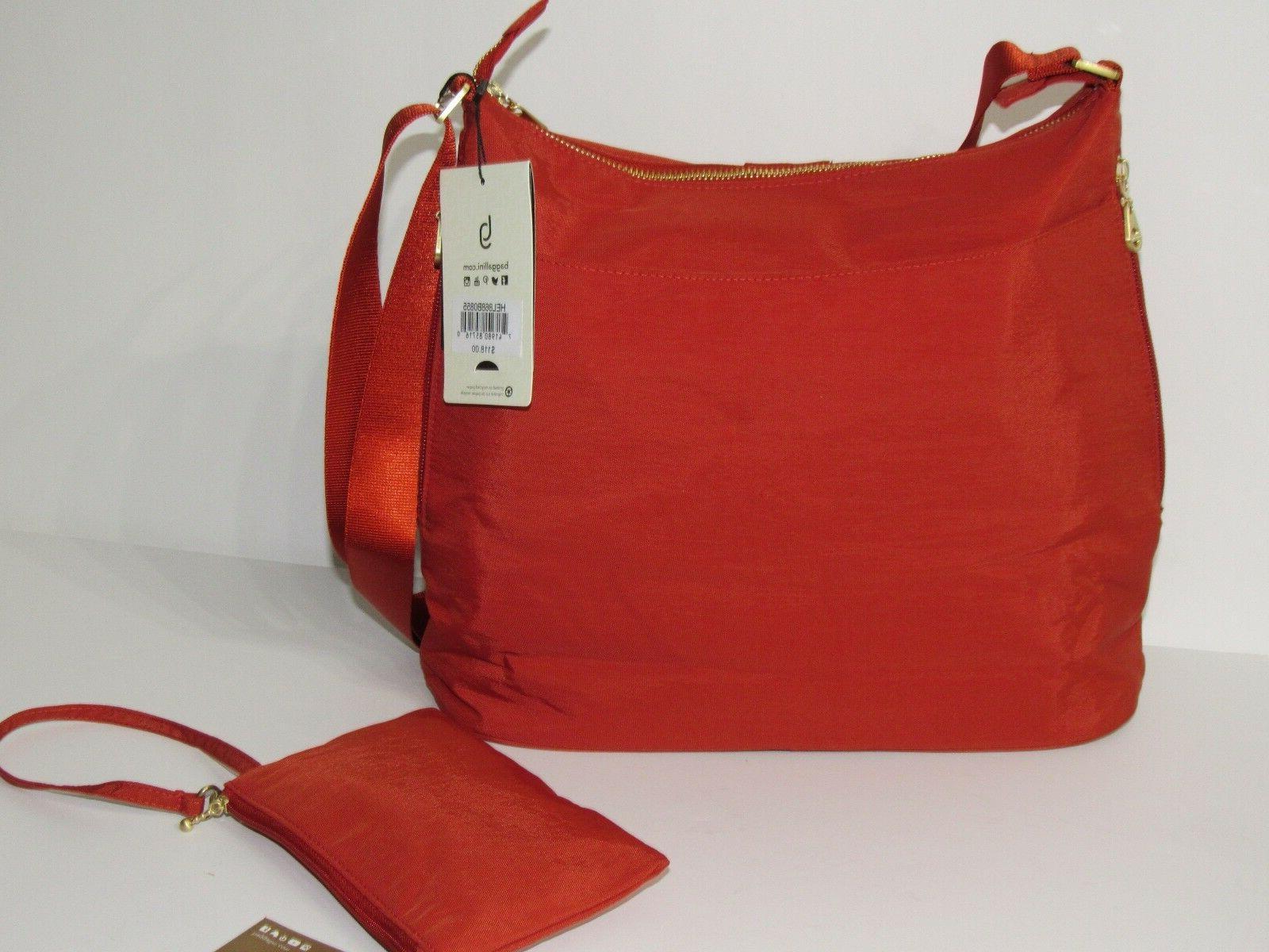 Baggallini Helsinki Crossbody Bag Water-resistant w/ Wrislet NEW