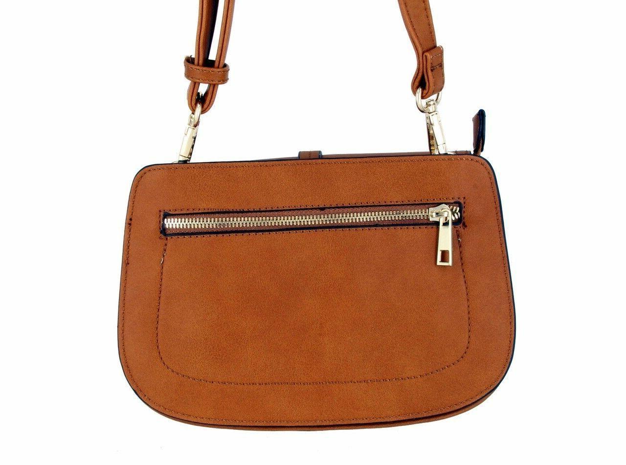 Alyssa Collection Fashion Saddle Bag Cross Purse Handbag