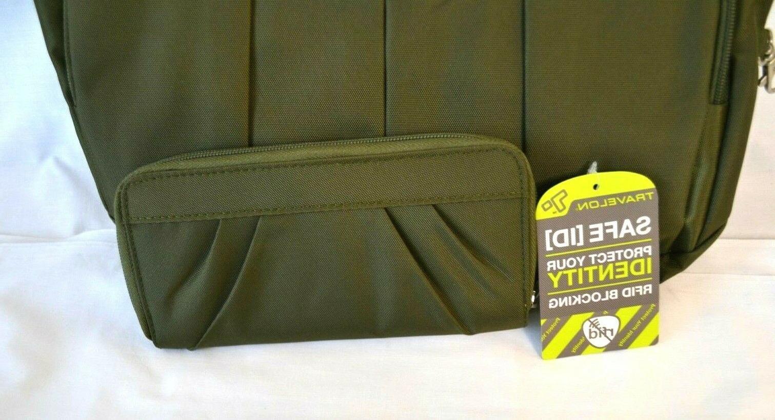 Travelon Handbag/Bag RFID Set-Exclusive Olive color