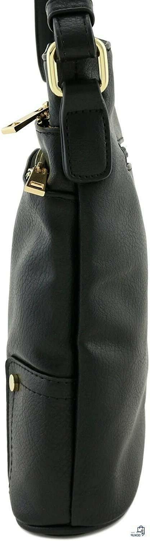 Black Pocket Large Crossbody