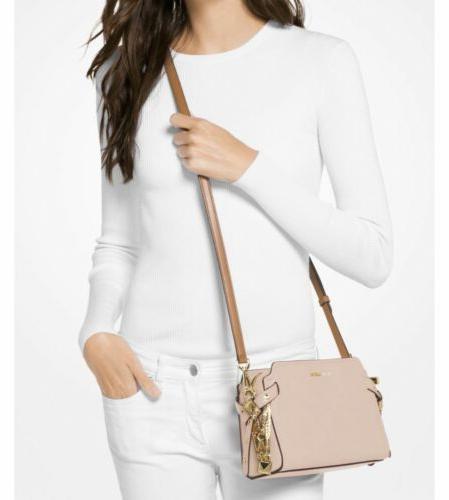 bristol crossbody bag pink leather nwt
