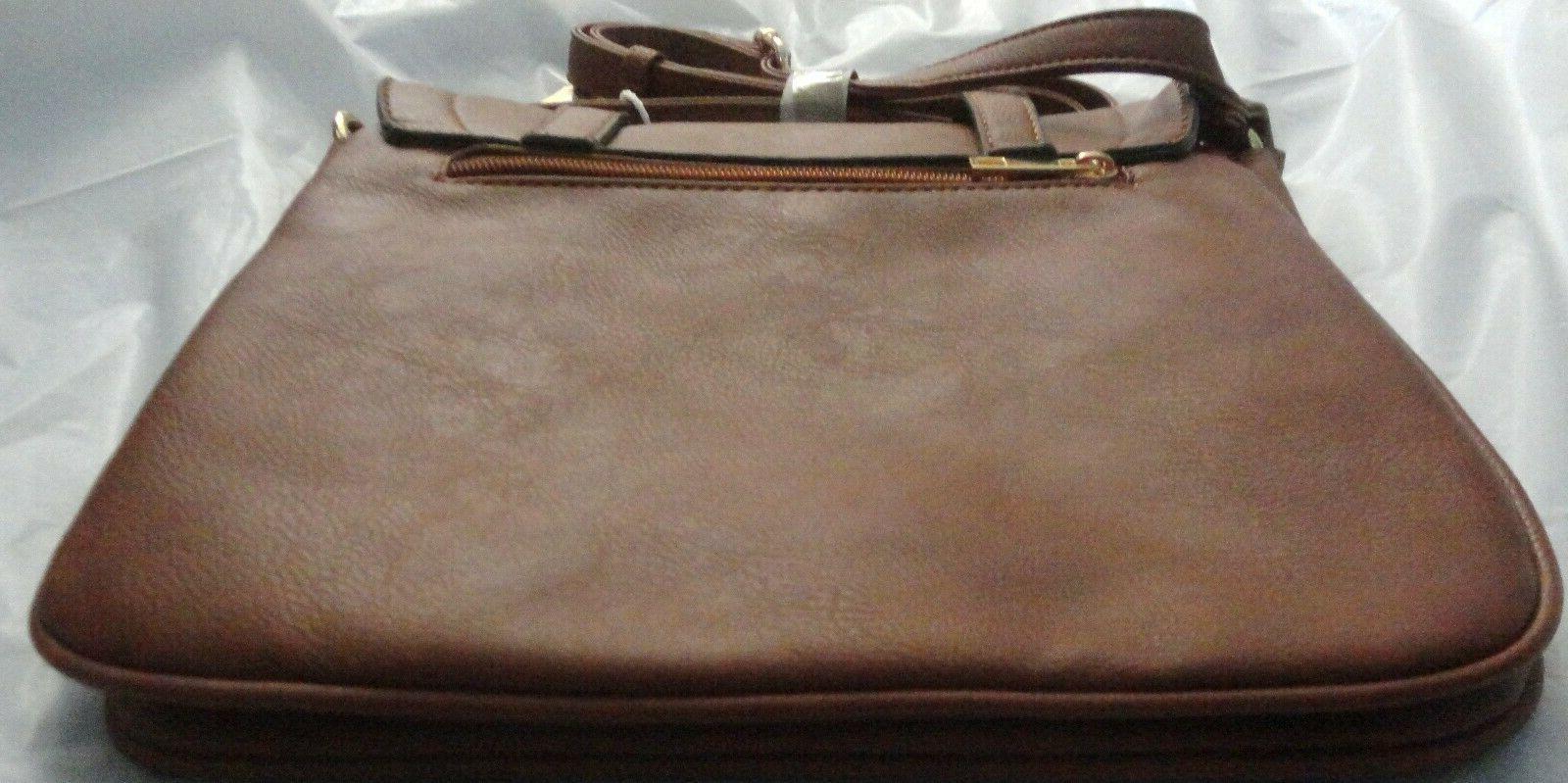 Alyssa -Brown Compartment, Large Bag,