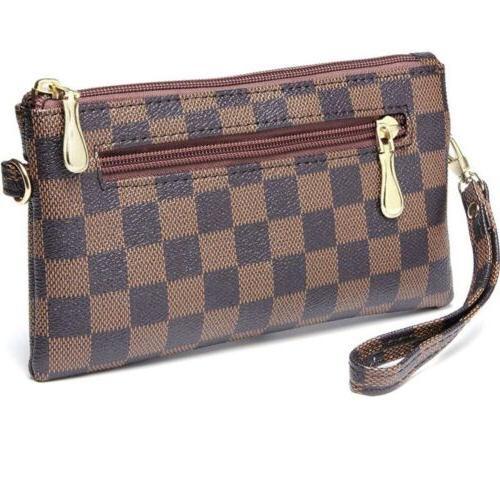 Checkered Cross Body Bag For Women