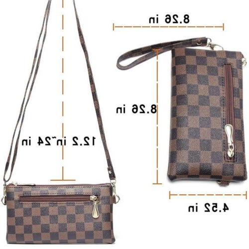 Checkered Body Bag For Women New Bag Luxury Spacious