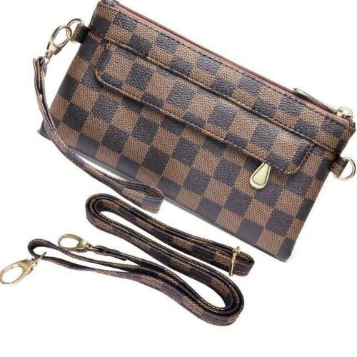 checkered cross body bag for women brand