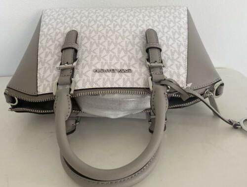 Michael Bright White Satchel
