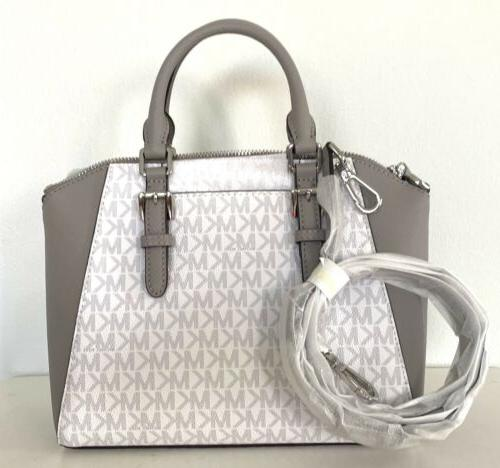 Michael Kors White Satchel Crossbody
