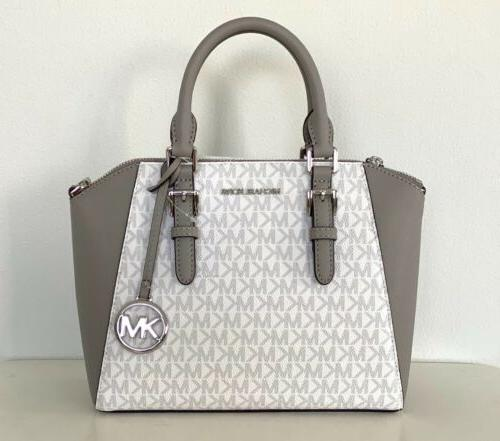 Michael White Grey Medium Satchel Bag