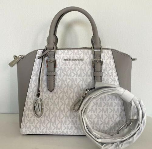 ciara bright white grey medium messenger satchel