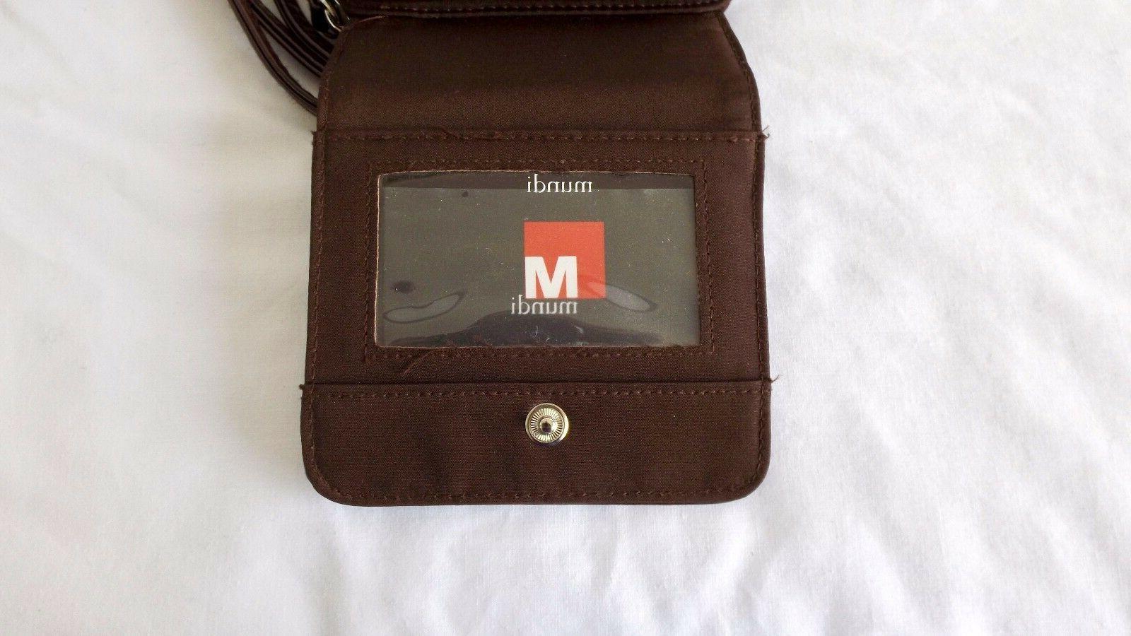 Mundi Cross Body Bag, Brown Patent Leather,
