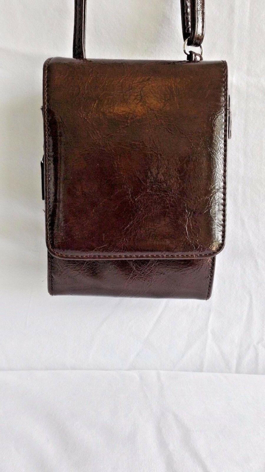Mundi Body Bag, Brown Faux Leather, NWOTS
