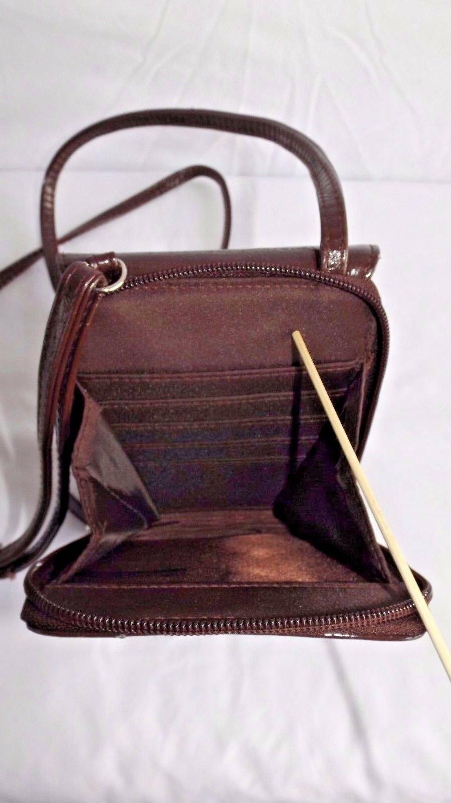 Mundi Bag, Brown Faux Patent Leather, NWOTS