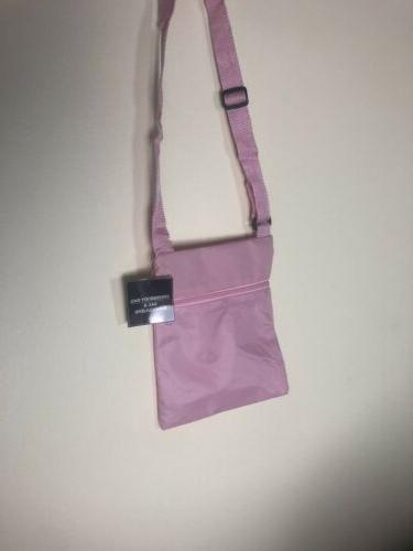 """Crossbody Bag, Pink 8"""" x side-to-side"""