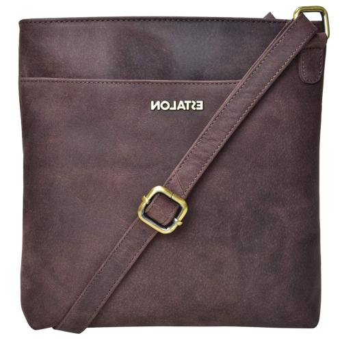 Crossbody-Bags for Women Genuine Leather - Medium Size Brown