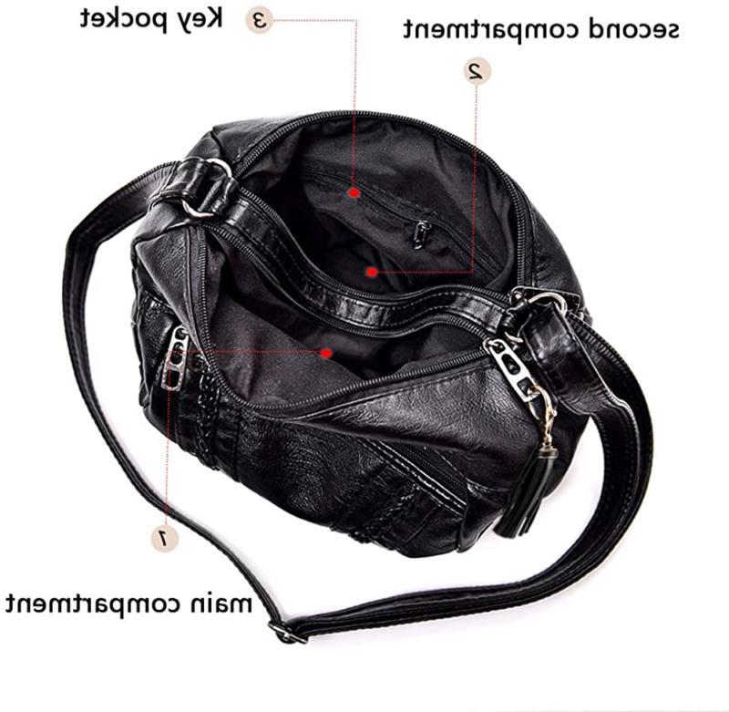 Crossbody Bags Women Pocketbooks Soft Purses and Multi P