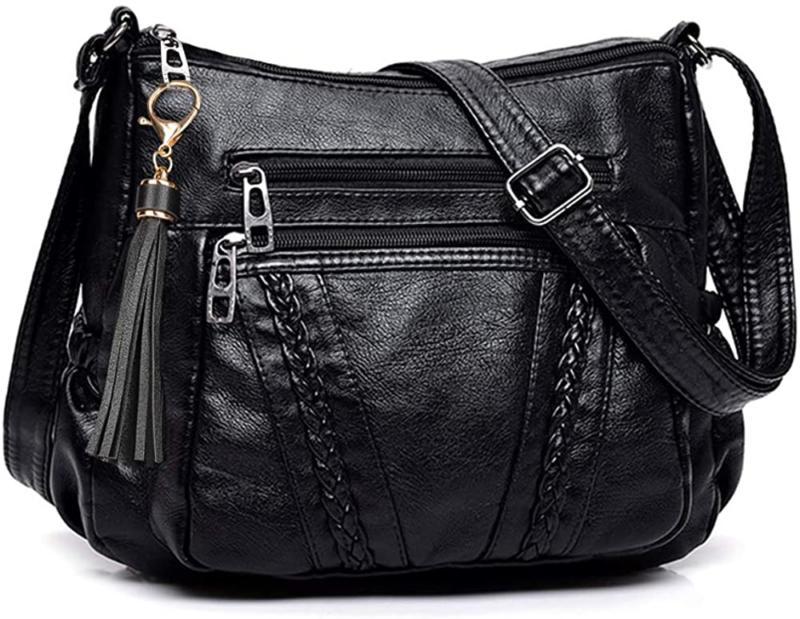 crossbody bags for women pocketbooks soft pu