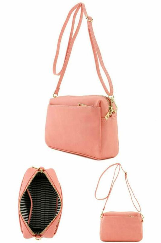 crossbody travel bag for women faux leather