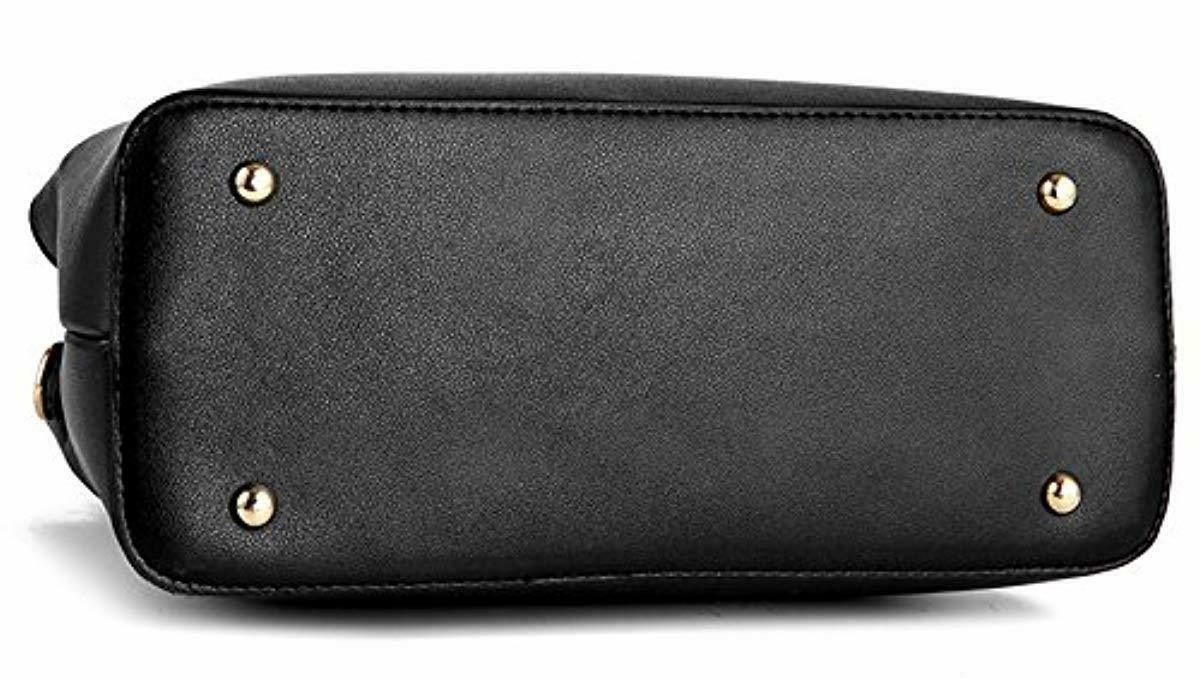 Dreubea Women's Leather Handbag Tote Crossbody Purse