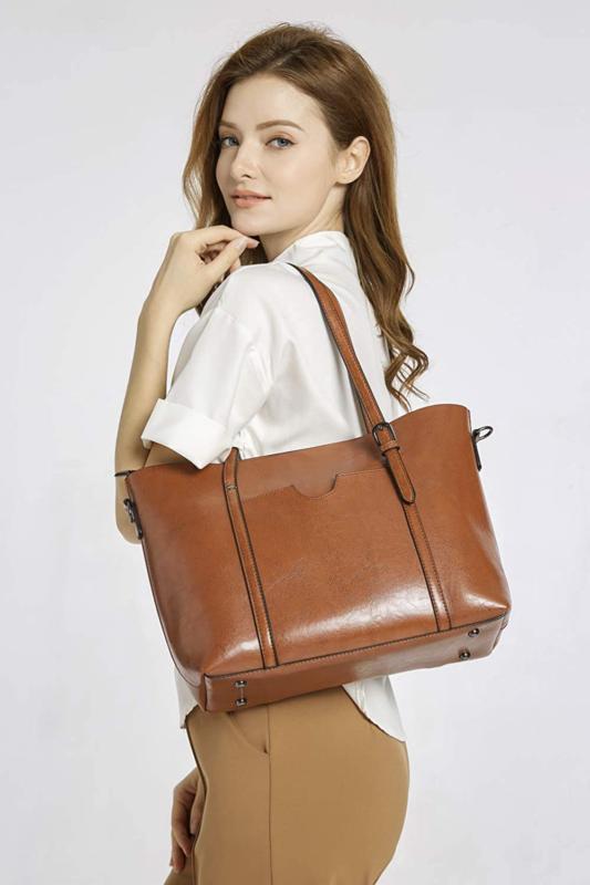 Dreubea Handbag Capacity Tote Shoulder Crossbody