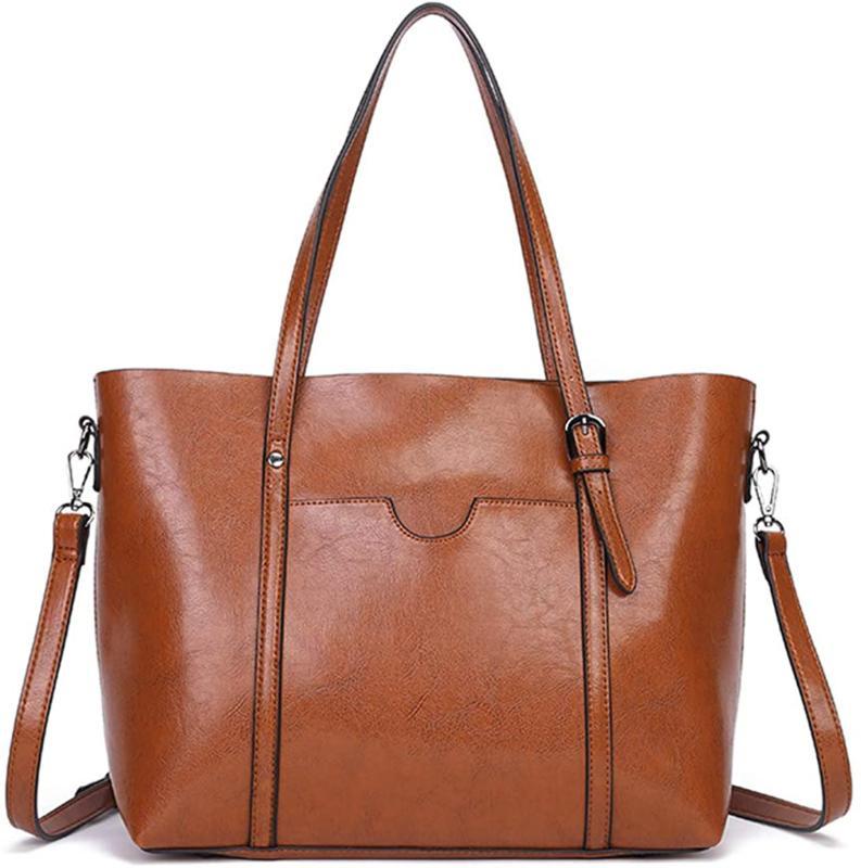 dreubea womens soft leather handbag big capacity