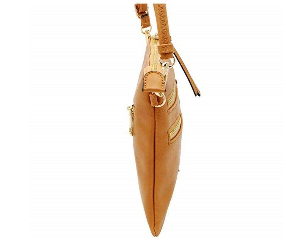 Isabelle Functional Crossbody Shoulder Bag Light Tan