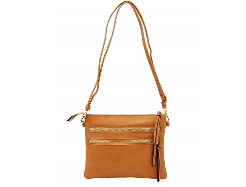 functional womens crossbody shoulder bag light tan