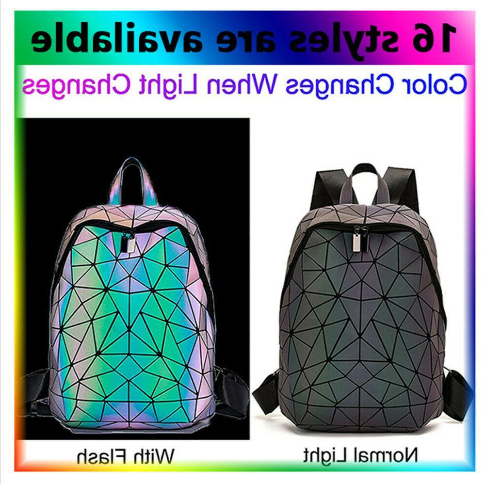 geometric women tote bag holographich purses