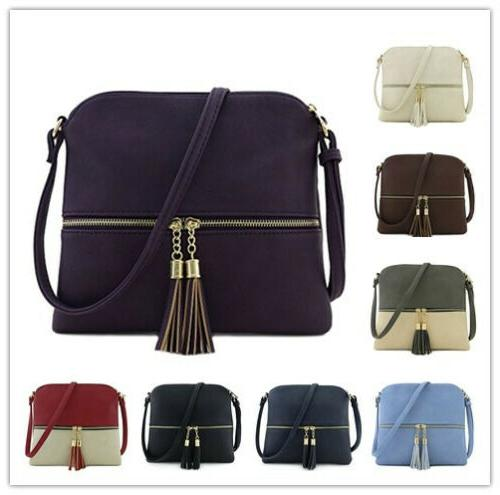 lightweight medium crossbody bag with tassel functional