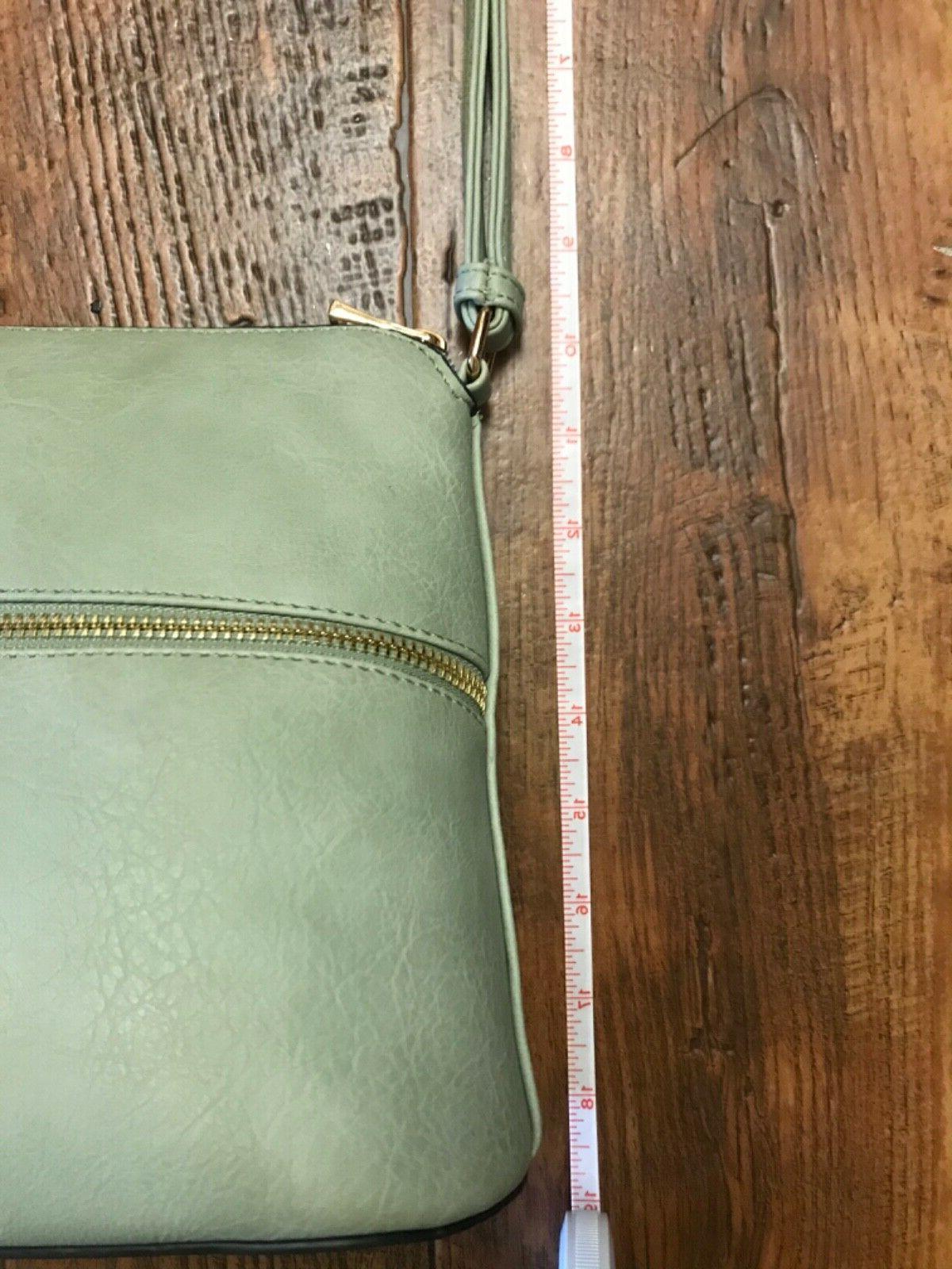 Deluxity Green Vegan Leather Crossbody