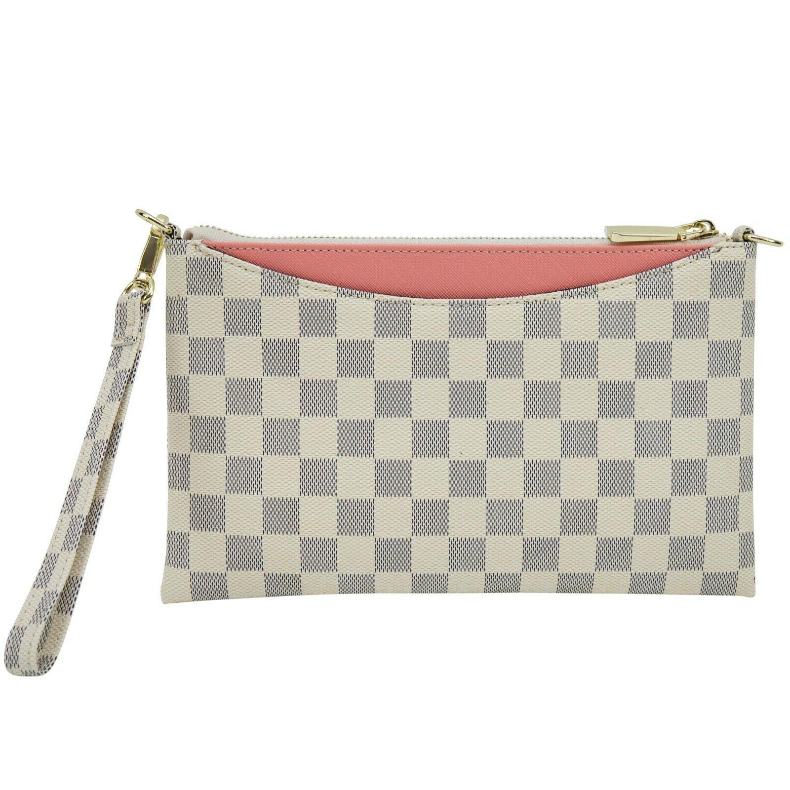 Luxury Crossbody for Women Wristlet Clutch Leather Shoulder