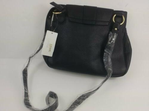 Daisy Medium Body Shoulder Bag Vegan Leather Black