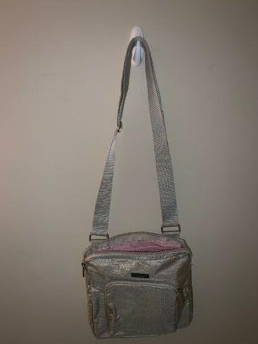 BAGGALLINI Metallic Nylon Zipper Stunning