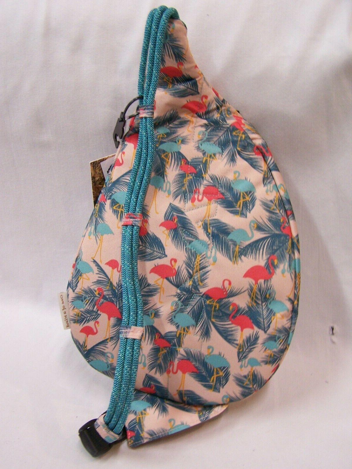 KAVU Mini Bag Polyester Crossbody Shoulder Backpack - Flamingo Fest