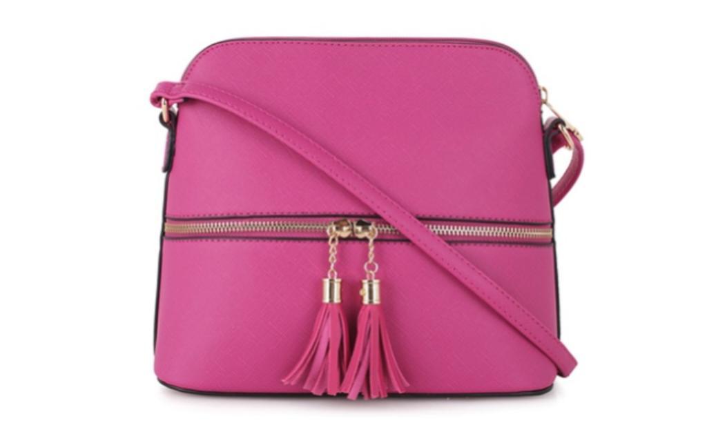 mkii kady tassel charm womens crossbody bag