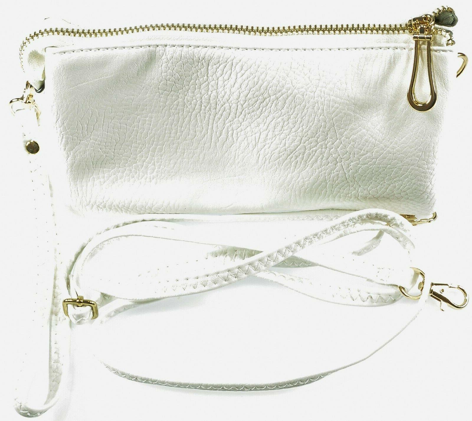 multi pocket crossbody bag removable wristlet strap