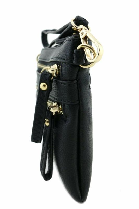 Multi Pocket Wristlet Black