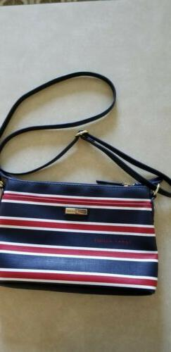 NEW TOMMY HILFIGER BLUE+WHITE+RED STRIPED, 2 Piece Set, VINY
