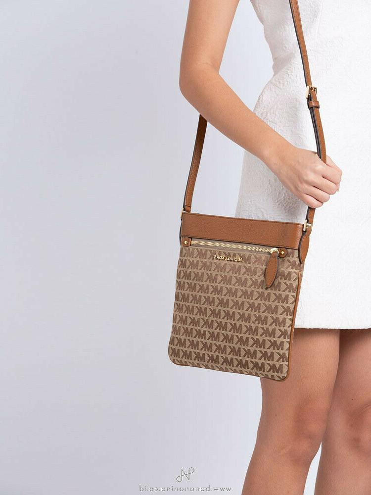 New Michael Kors CONNIE Large North South Top Crossbody Bag