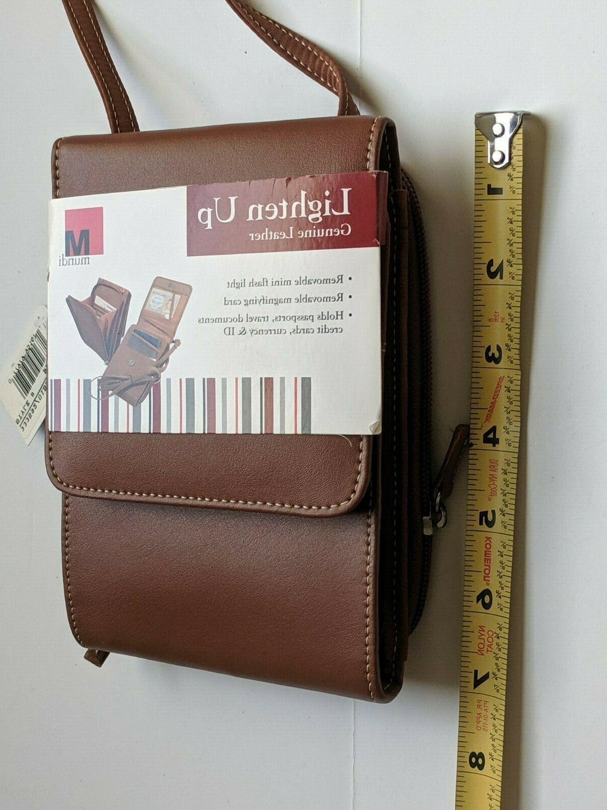 New! Lighten Up Brown Travel Bag Crossbody