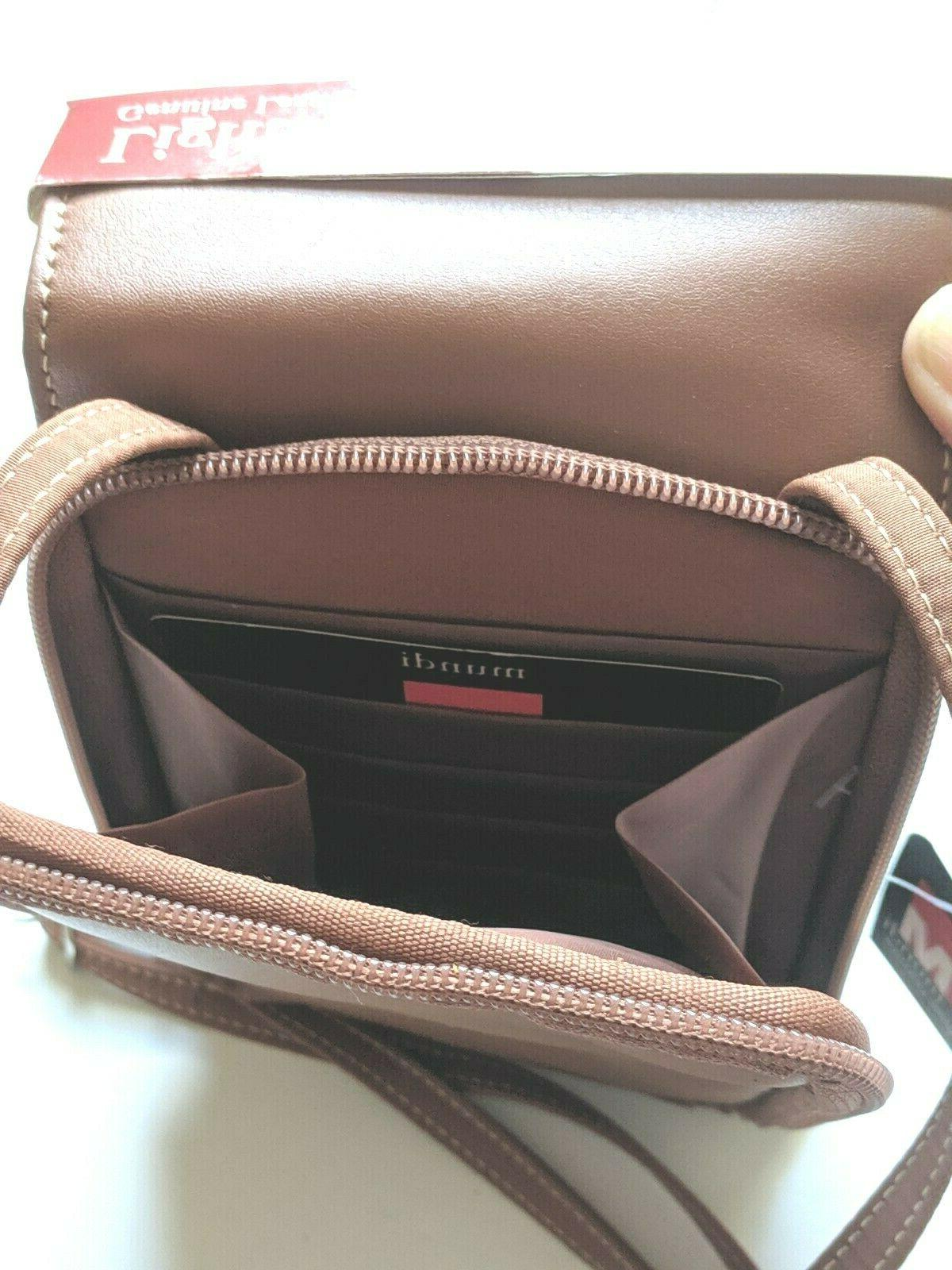 New! Leather Up Brown Bag Crossbody