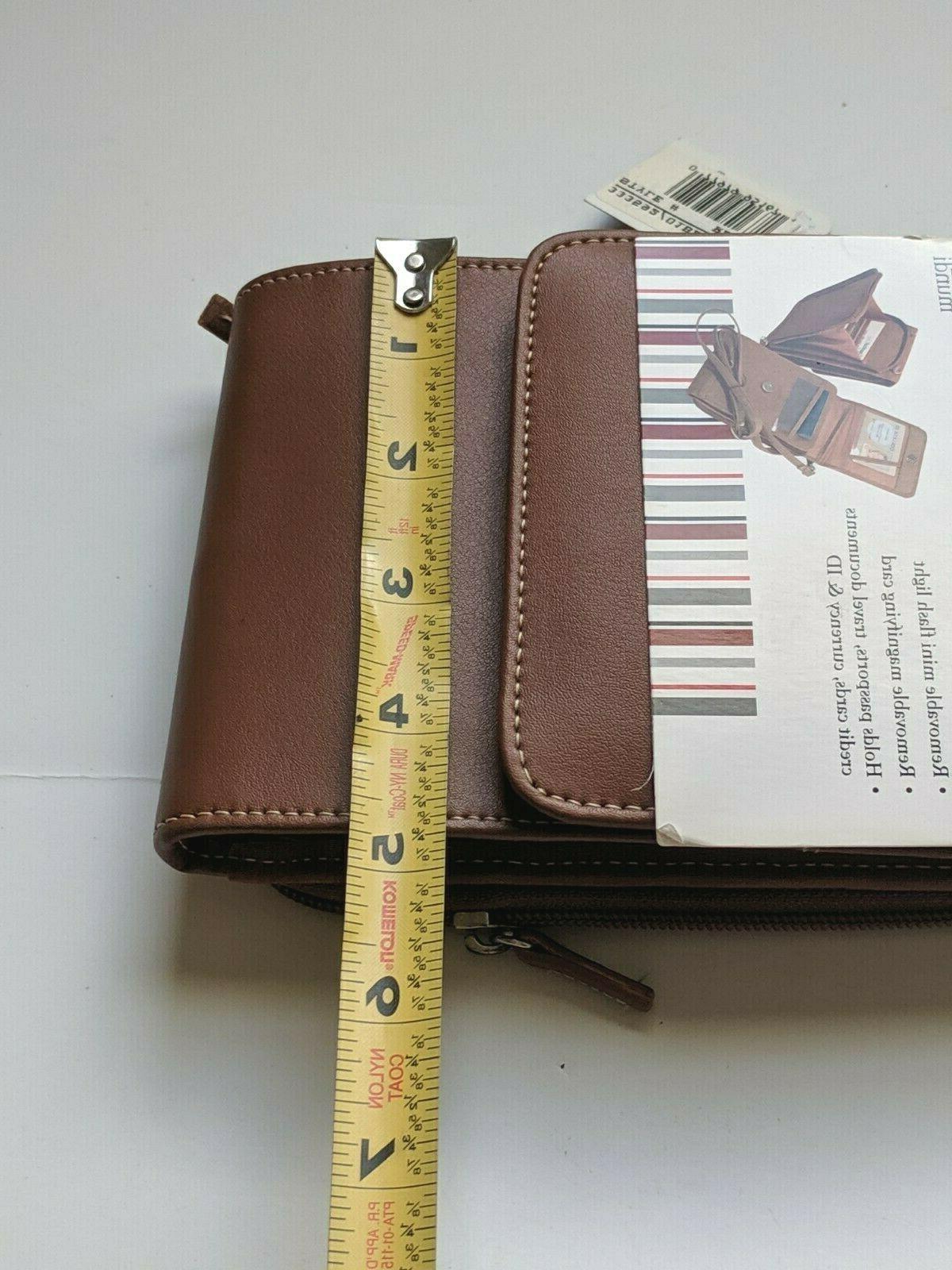New! Leather Lighten Up Mini Travel Bag Crossbody Strap
