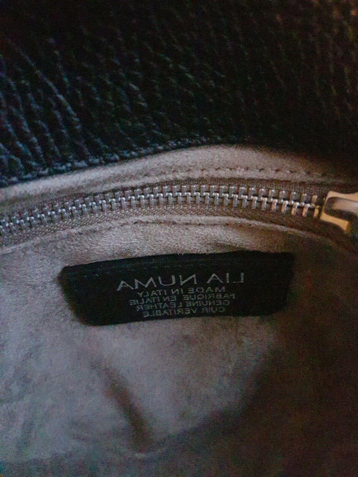 New LIA Women's Made Italy Black Crossbody Bag